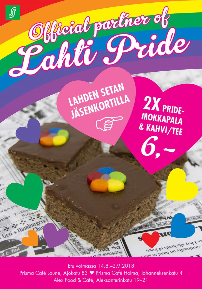 Prisma cafe Alex Lahti Pride 2018
