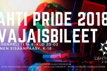 Lahti pride 2018 avajaisbileet